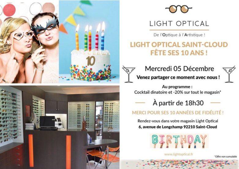 Opticien Light Optical Saint-Cloud fête ses 10 ans
