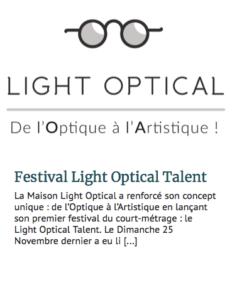 Fréquence optique -Light Optical Talent